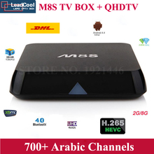2015 Cheapest Arabic IPTV M8S Android TV Box Support 700 HD Arabic Channels 1 Year Subscription Box Office Moives Sky In Stock