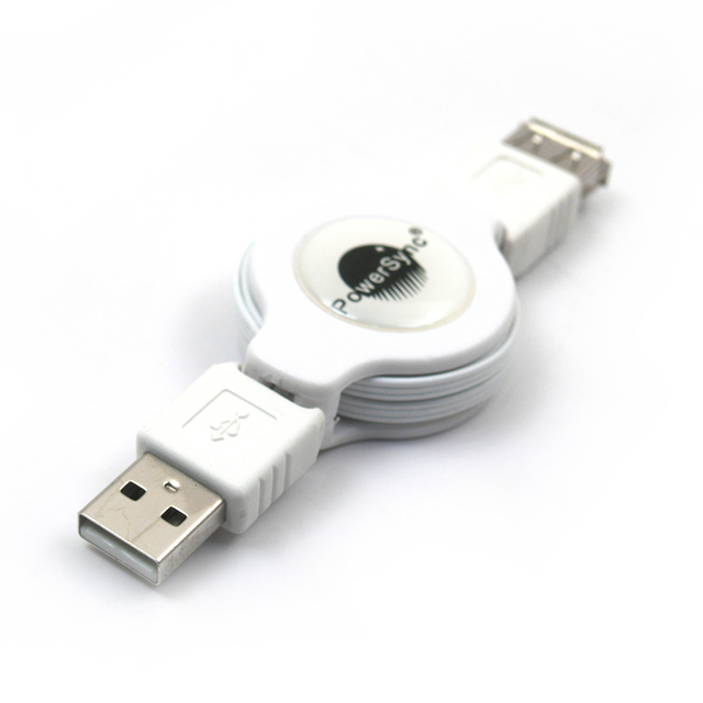 Quja usb2.0 retractable type extension cable a a data cable uamfes-12 1.2 meters