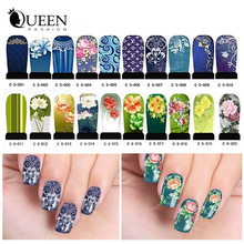 Transferable Water Nail Stickers,20sheets DIY Nail Art Beauty Wraps Accessories Full Cover Nail Decals Decorations