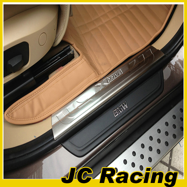 X4 4PCS/SET Steel protect plate,Auto Car Door sill stripe for bmw(Fits X4 2015UP )(China (Mainland))