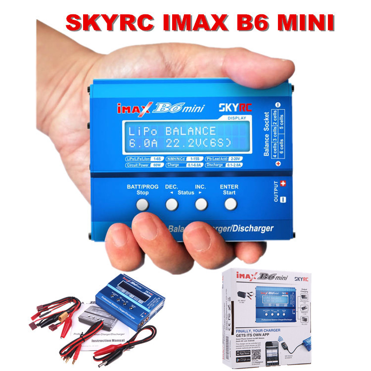 Free Shipping SKYRC IMAX B6 MINI Model Aircraft Balance Charger Discharger For RC Battery Charge
