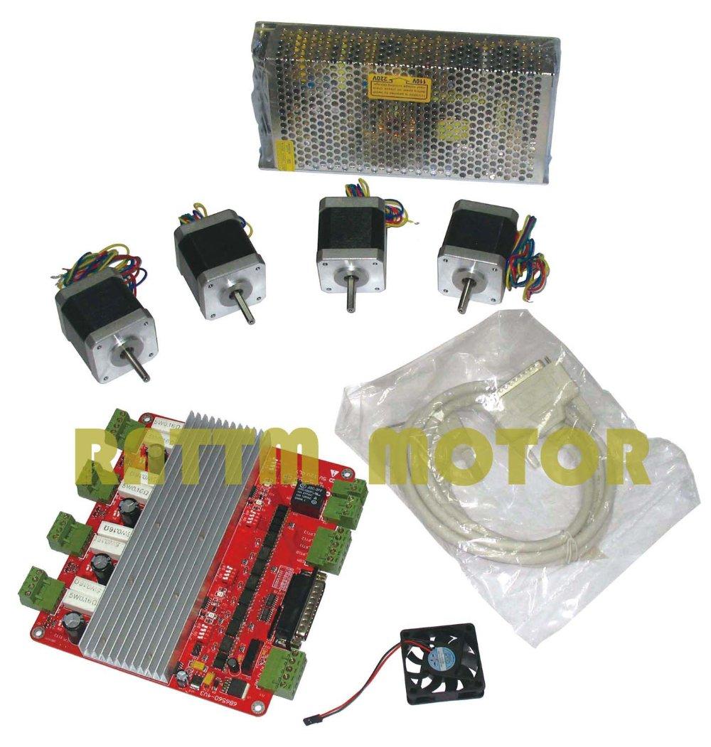 Buy 4 Axis Cnc Kit 4 Nema17 78 Oz In