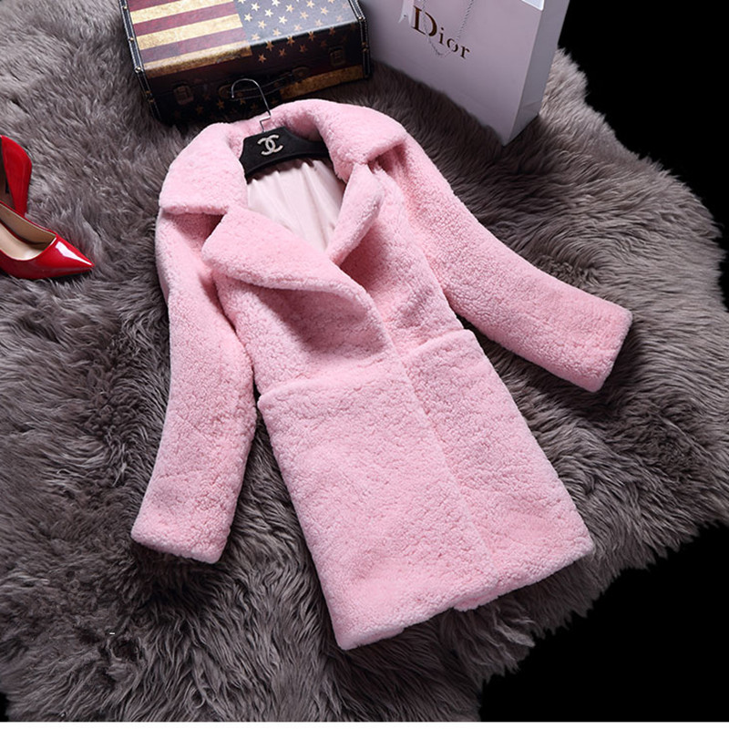 2016 Luxury Genuine Real Merino Sheep Fur Coat Jacket Winter Warm Women Wool Fur Outerwear Coats Lady Clothing 0735(China (Mainland))