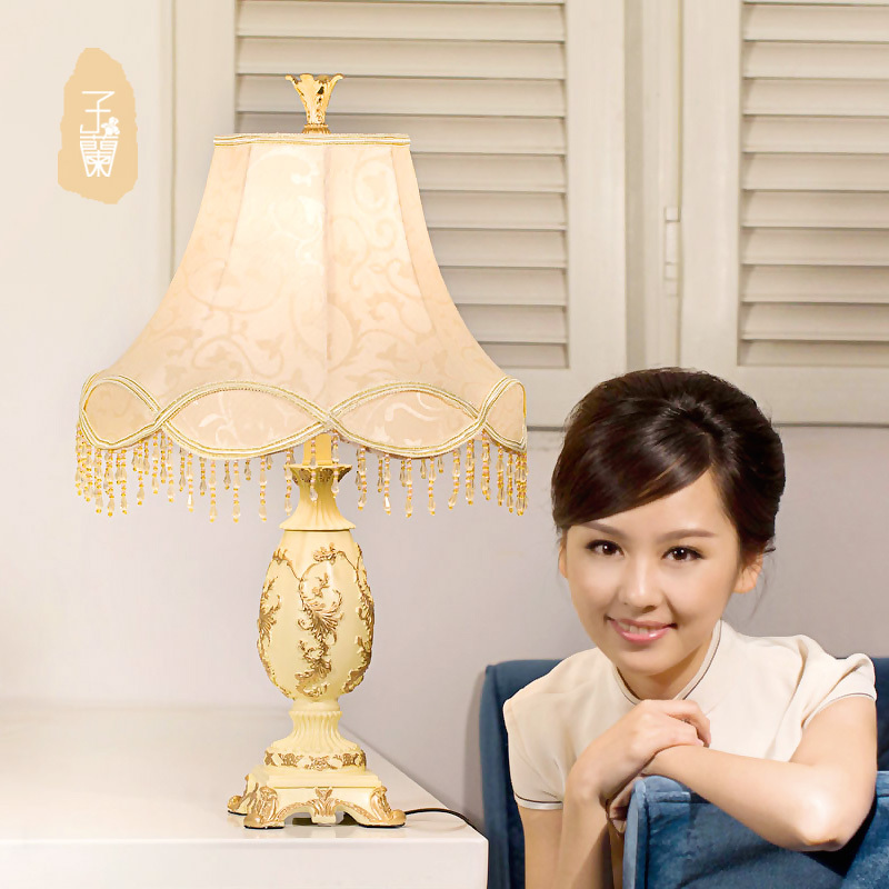 E27 Table Lamp Luxurious Ancient Garden European Style Bedside Lamps Living Room Decoration  Free Shipping<br><br>Aliexpress