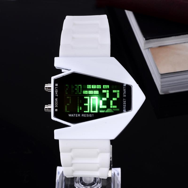LED Watch 2015 New Women Men Lovers Black White Fashion Digital Wholesale Watch Silicone Jelly stylish Rectangle Wristwatch Hour(China (Mainland))