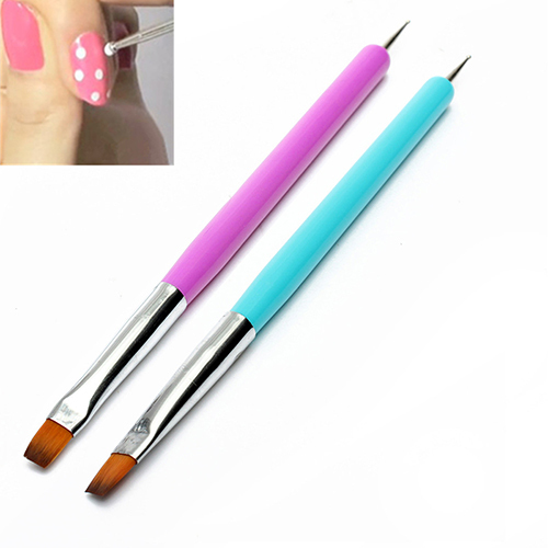 Hot Selling NEW 2-Ways Nail Art Pen Painting Dotting Acrylic UV Gel Polish Brush Liners Tool 5W4S 7GXO<br><br>Aliexpress
