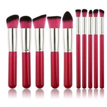 Hot 10 pcs Makeup Set Pro Kits Brushes Kabuki Makeup Cosmetics Brush Tool Free Shipping Mail EMS DHL