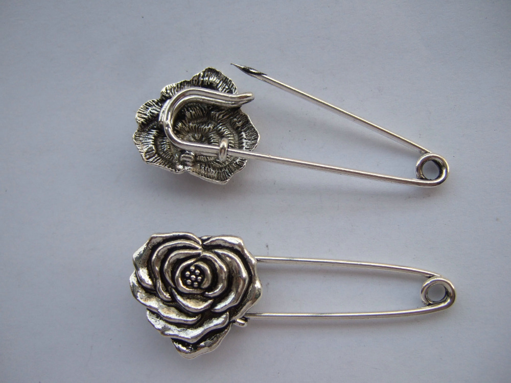 12 x Silver Tone Strong Metal font b Kilt b font Scarf Brooch Safety Pin With