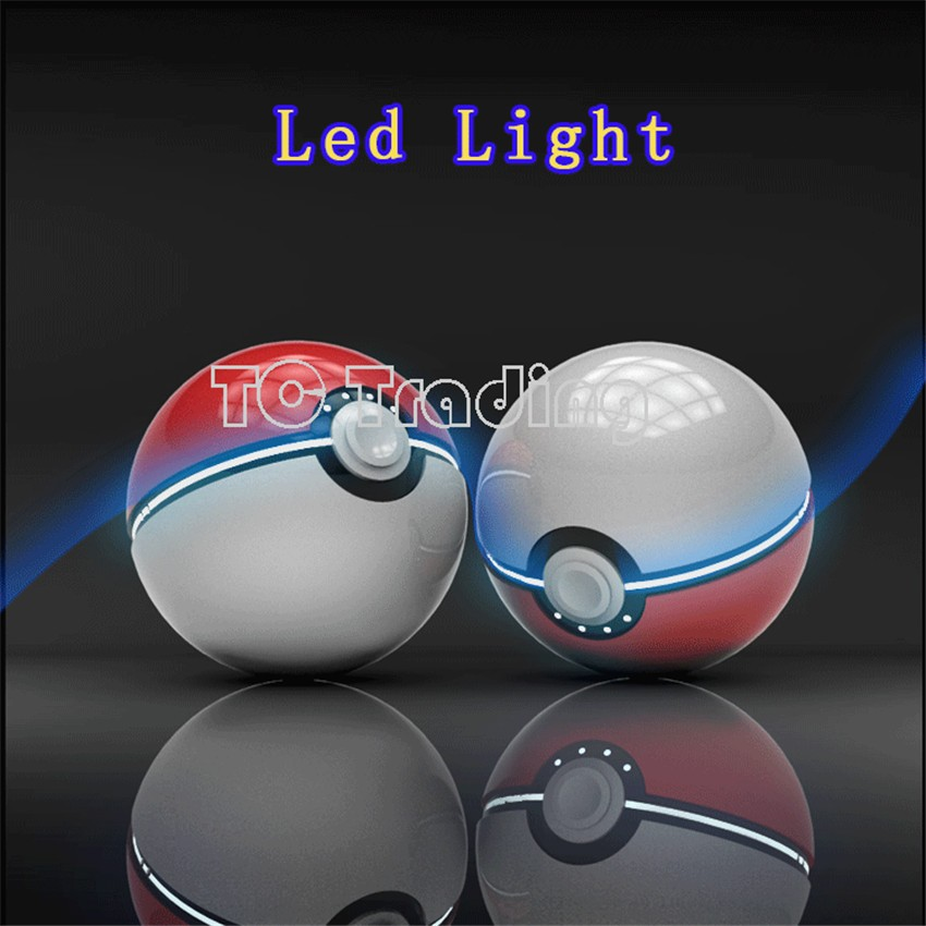 NEW Arrivals:12000mAh Pokemon Go Ball II Power Bank Magic Ball Charger Double USB Port 2.4A Fast Charger Retail Box USB Cable