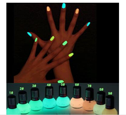 Non-toxic Neon Fluorescent Luminous oil matte nail polish candy 12 colors transparent Nail Varnish Lacquer Paint Nail Art 1 Pcs(China (Mainland))