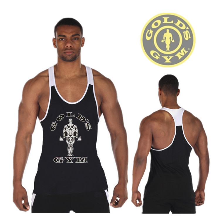Newest Golds Gym Fit Stringer Tank Top Men Regata Fitness World of Tanks Sports Vest Singlet Bodybuilding Shirt Gym Clothes Men(China (Mainland))