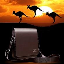 New men's travel bags 2016 Designer Brand Men Messenger Bag Men's big promotion genuine Kangaroo leather shoulder handbags