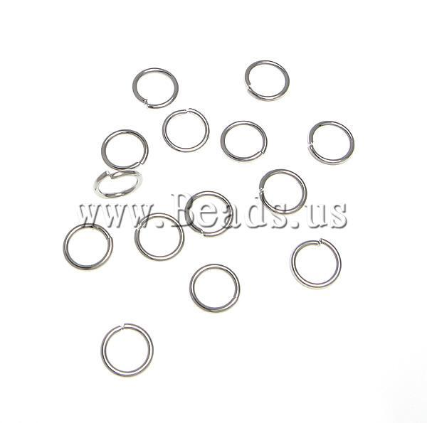 Free shipping!!!Brass Closed Jump Ring,Cheap Jewelry Fashion, platinum color plated, nickel, lead & cadmium free, 6x6x0.80mm