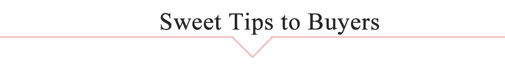 sweet tips to buyers