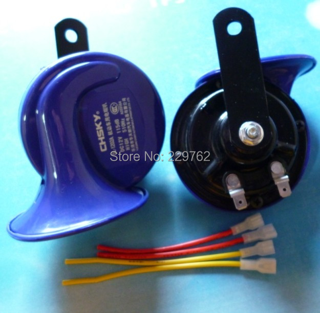 2x 12V Loud electric snail car horn motorcycle horn Automotive Auto Truck Electric Vehicle Horn Sound Level 115dB Free Shipping