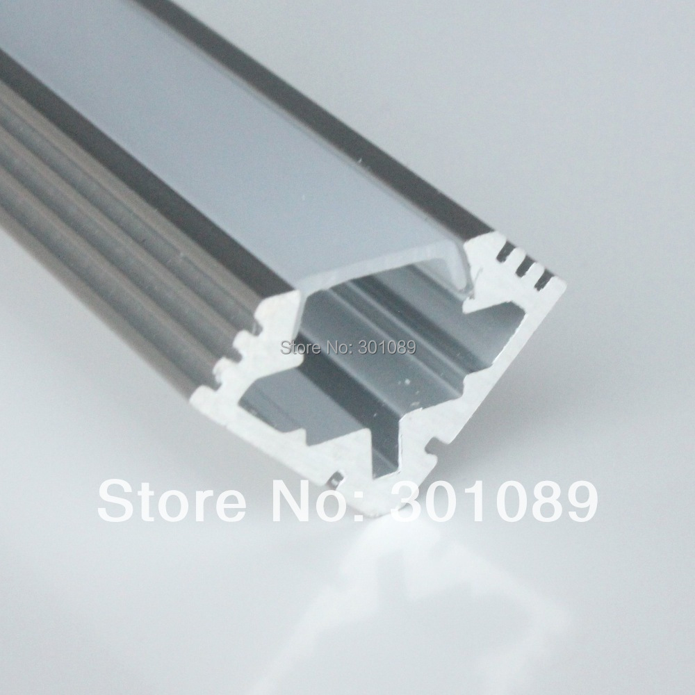 10m (10pcs) a lot, 1m per piece, aluminum housing led light bar clear cover or milky diffuse cover(China (Mainland))