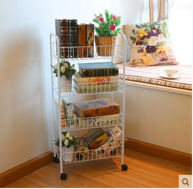 Hot Sale Vegetable Rack Mobile Storage Rack Fruit Shelf Kitchen Racks The Cart Landing Activities Free Shipping(China (Mainland))