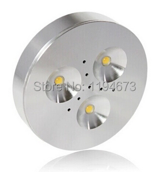 1PCS Free Shipping Epistar led built-in constant current  Dimmable 3x3w led puck light for cabinet warm/cool white AC85-265V(China (Mainland))