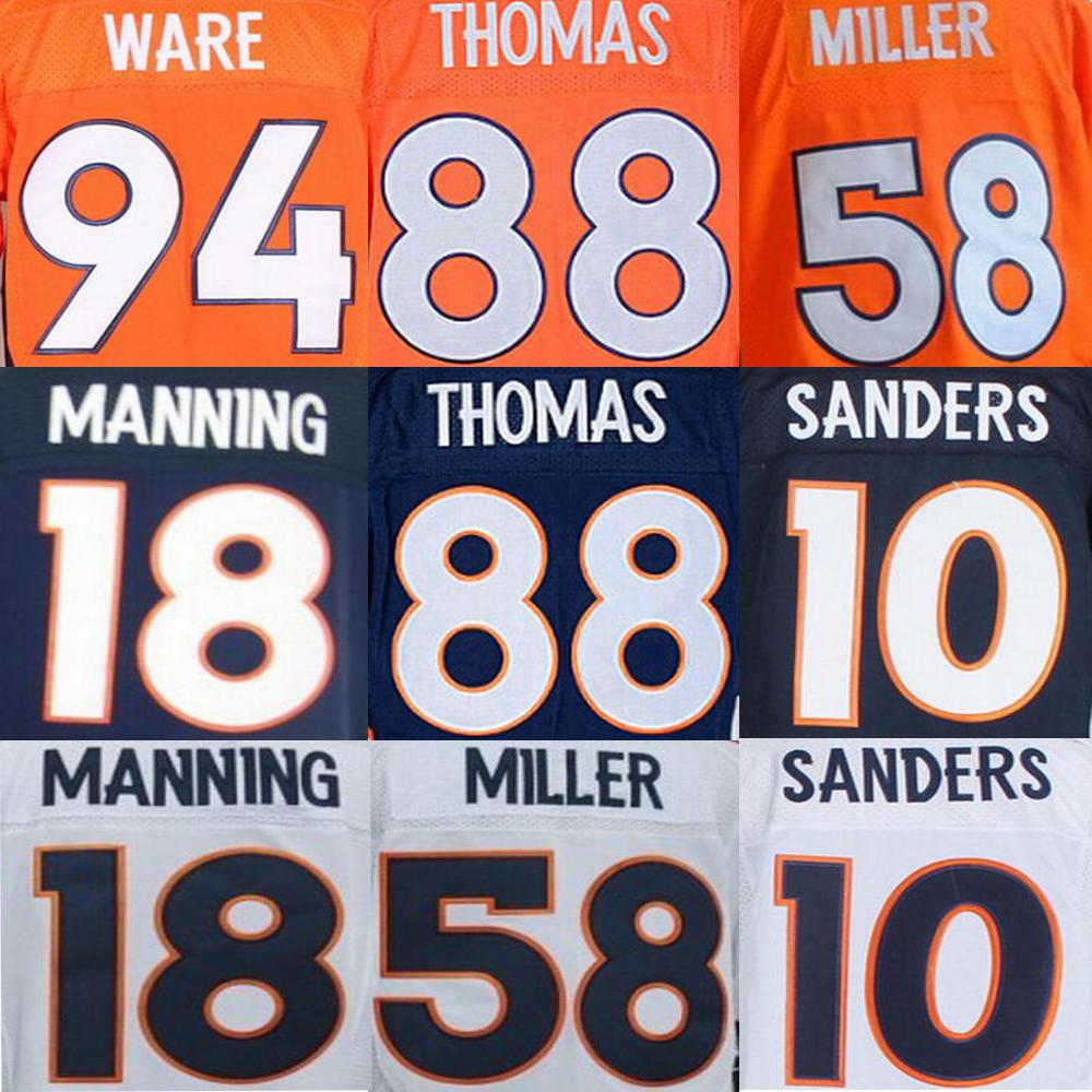 Peyton Manning Jersey, John Elway DeMarcus Ware Demaryius Thomas Emmanuel Sanders Von Miller PAXTON LYNCH Jersey(China (Mainland))