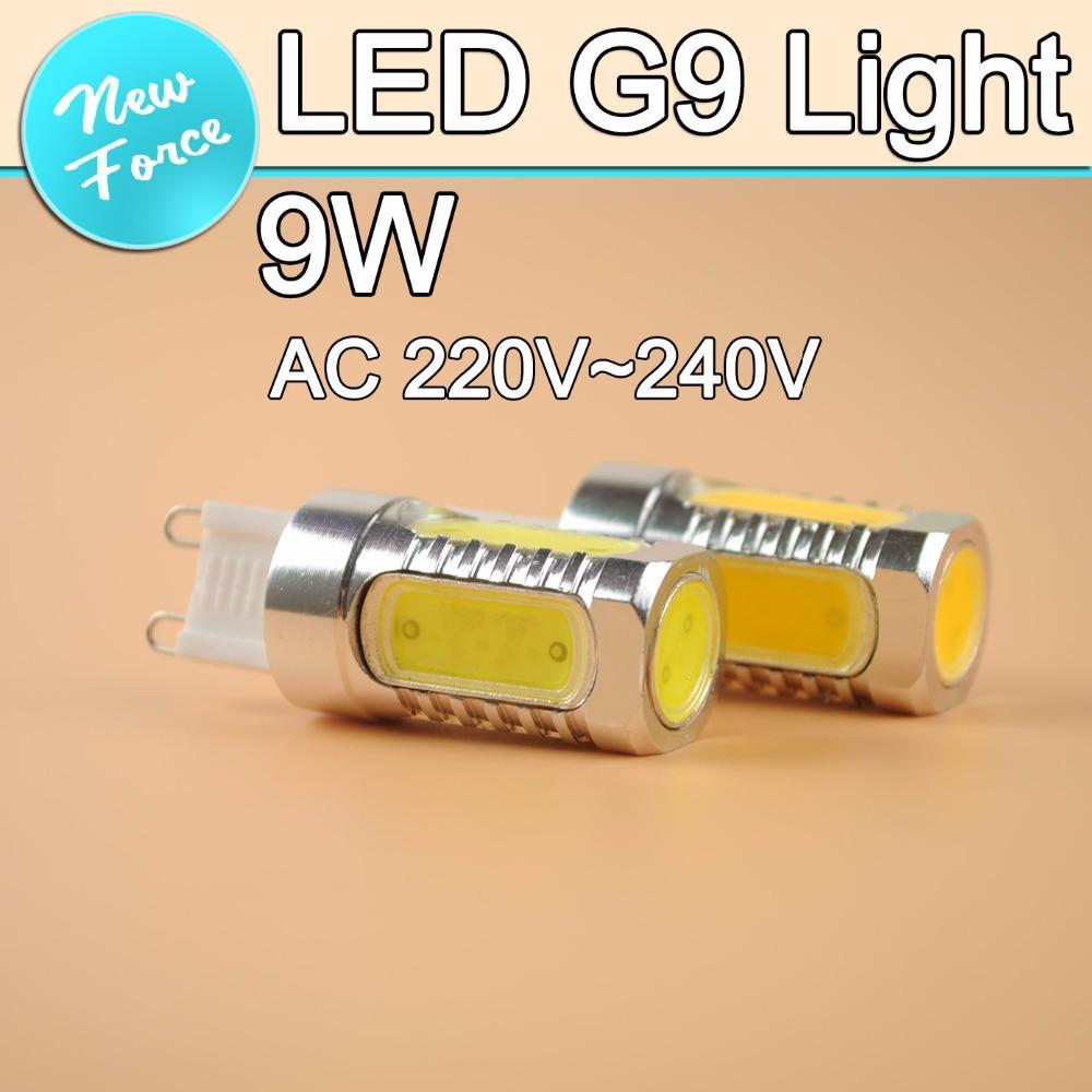 G9 LED 220V 9W COB Led Bulb Alluminum LED g9 Light lampada CREE Chip 360 Degree Chandelier Candle Light lampada LED Lamp 1PCS(China (Mainland))