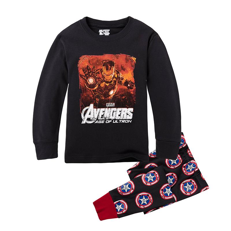 2016 Kids Avengers Clothes Baby Boys Girls Clothing Sets Long Sleeve Iron Man Pijamas Children Sleepwear Pajamas Sets(China (Mainland))