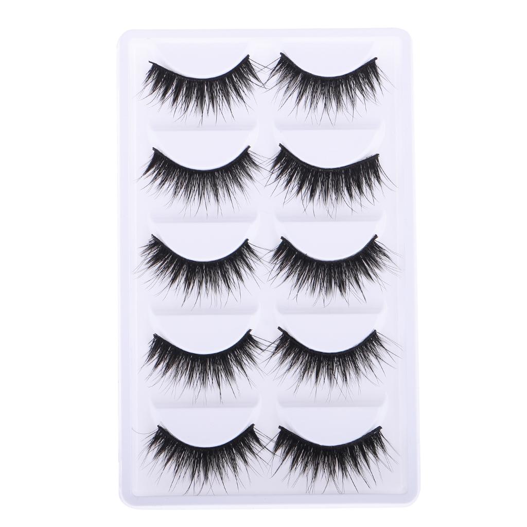 10 Pcs Black False Eyelashes for 12 Inch Dolls Makeup Accessory