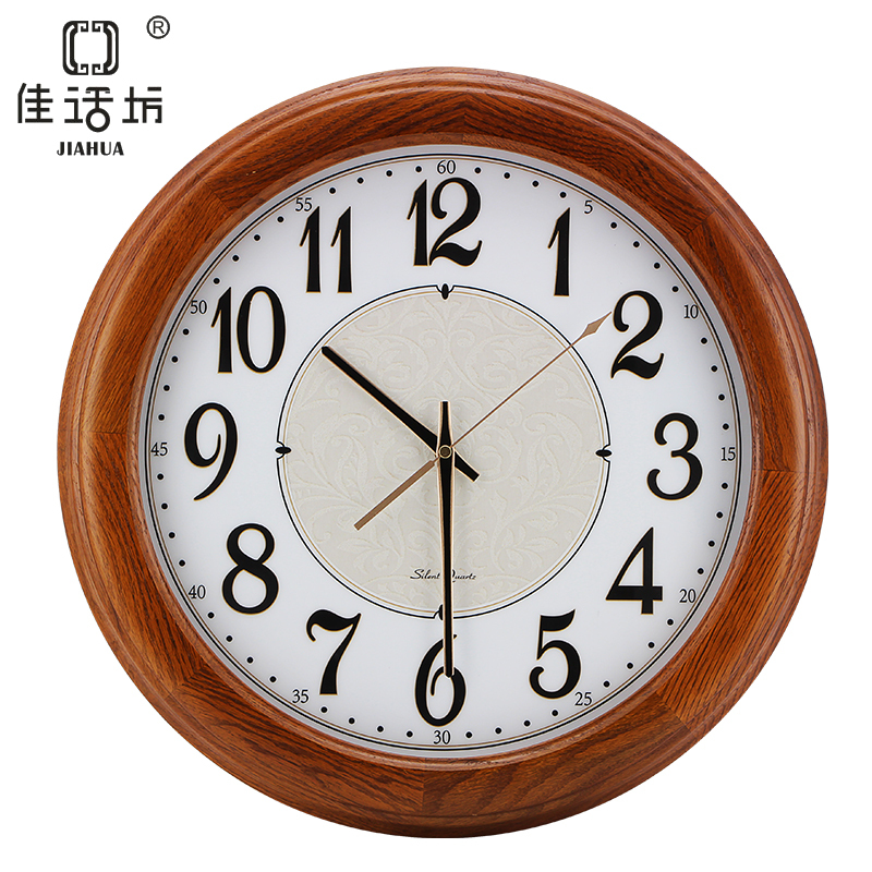 Square elegant living room wall clock creative story wood for Living room wall clocks