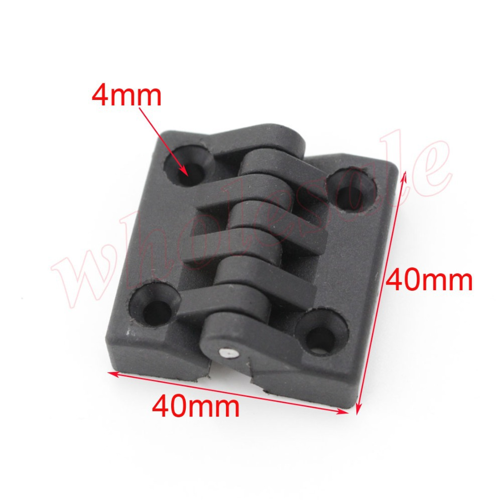 Black 40mm x 40mm Plastic Butt Hinges  Furniture Doorhinges 50pcs/lot for Wholesale <br><br>Aliexpress