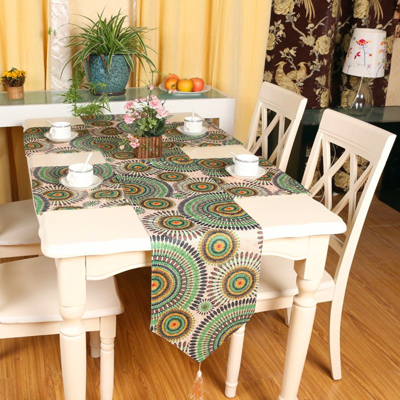 European classical Chinese garden style embroidered table runner custom end table flag Table flag bed modern minimalist fashion(China (Mainland))