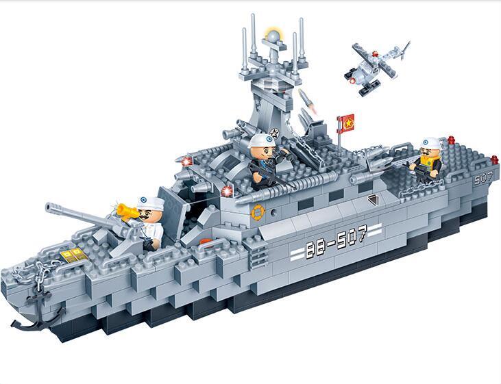 building block set compatible lego new military Carrier escort 3D Construction Brick Educational Hobbies Toys Kids