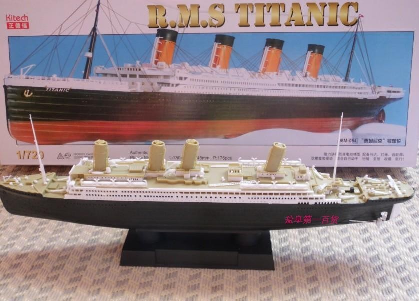 1/720 new brand hobby Titanic ship model kit with original box best gift for boy and girl 3D DIY toy with motor(China (Mainland))