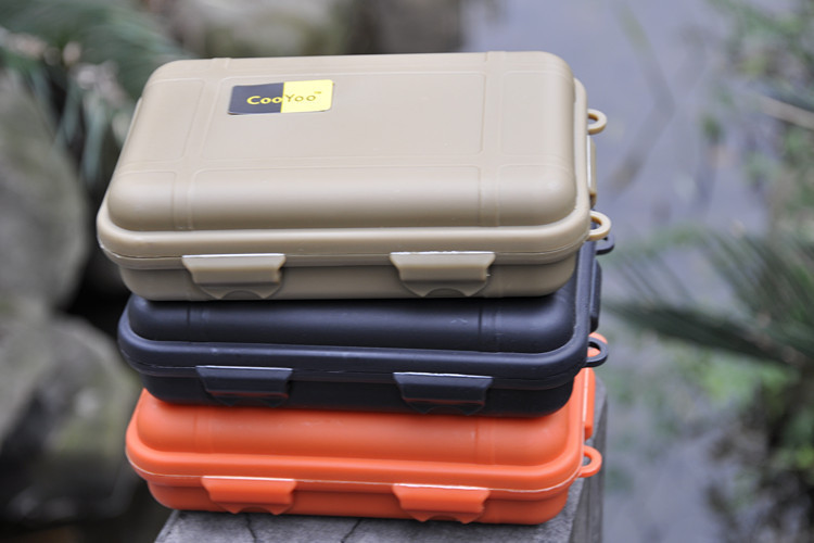 Tactical pen box 3colors waterproof sealed shcokproof Pressure-proof boxes Storage survival box special use cases/E1(China (Mainland))