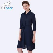 ICEbear 2017 женское элегантное бальное платье сексуальное повседневное Платья три четверти рукав блузка летняя повседневная 2008D(China (Mainland))