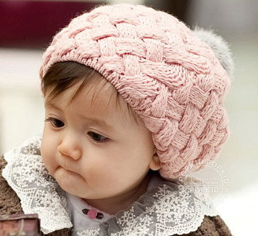 Free Shipping Cute Baby Cap Kid Beanie Baby Crochet Knit Beret Kid Hat Baby Hat For Child Christmas Gift Winter Hat For Girl(China (Mainland))