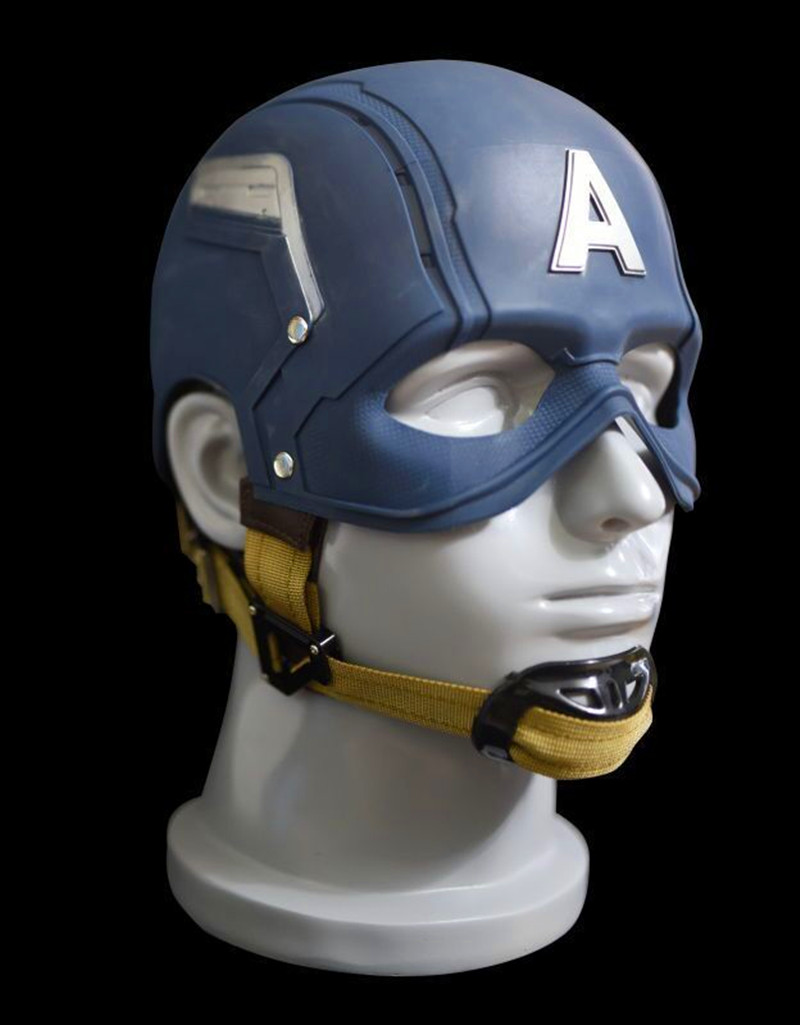 1:1 The Avengers Full Scale Captain America Steve Rogers Helmet Mask 1/1 Replica Custom Cosplay Prop RETAIL BOX WU625