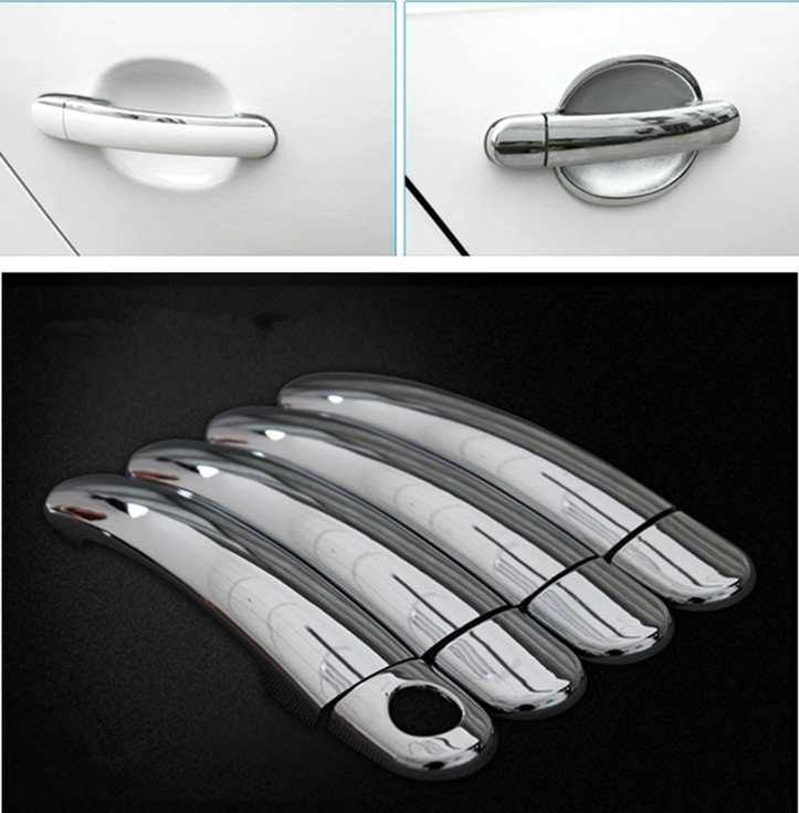 Volkswagen VW Polo 2010 2011 2012 2013 2014 New Chrome Car Door Handle Cover Trim - duoduo Technology Co., Ltd. store