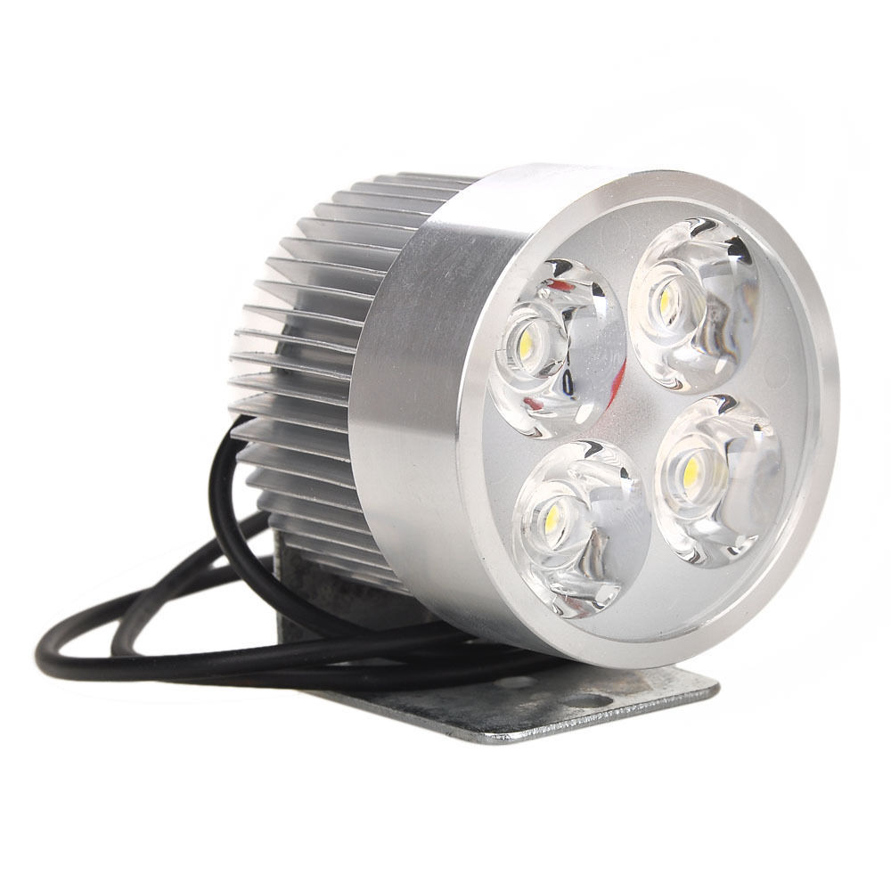 White 4 led car motor motorcycle auto daytime running for Dc motor light led