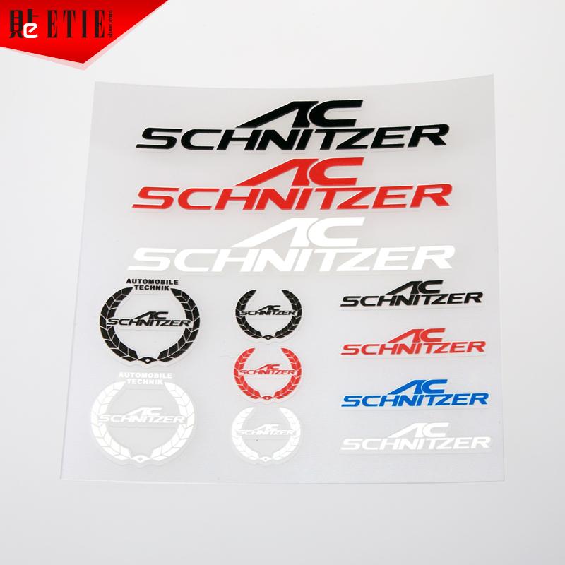 Etieshow Factory Direct Wholesale Vinyl Sticker Car Styling AC SCHNITZER ABT Sticker Car Accessories Vinyl Sticker Manufacturer(China (Mainland))