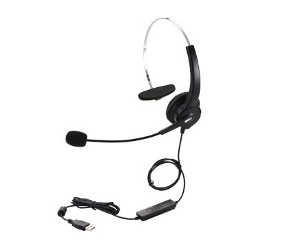 Wholesale 4-Pin Call Center Corded Operator computer USB Headset High Quality Headphones with Microphone(China (Mainland))