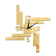 Buy Acrylic mirror oversize wall clocks DIY mirror brief modern clock 3d big size home decor quartz diy wall clock living room for $8.72 in AliExpress store