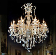 Large Chandelier Lighting crystal Luxury 15 Arm light white fashion chandelier Crystal Top Grade K9 Chandelier Lighting(China (Mainland))
