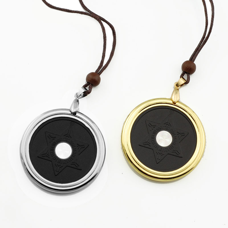 2014 wollet science bio nano negative ion scarlar stainless steel quantum energy pendant(China (Mainland))