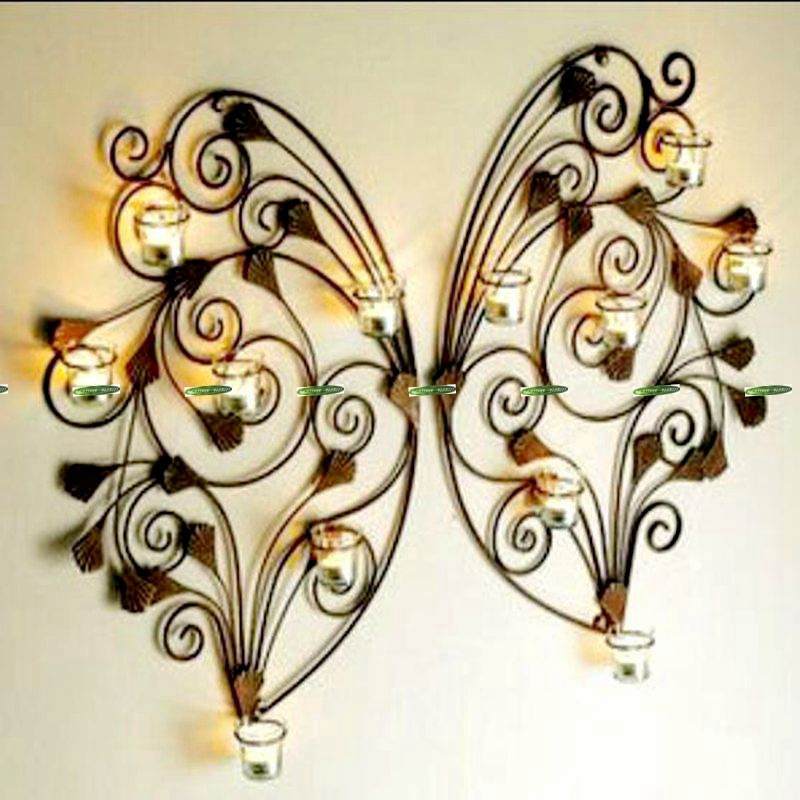Metal Wall Decor Candle Holder : Popular wall mounted candle holders buy cheap