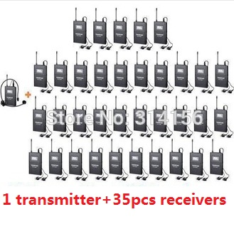 Takstar WTG-500/ WTG 500 UHF Wireless audio system tour guiding,simultaneous translation up to 100m 1Transmitter+35 Receivers(China (Mainland))