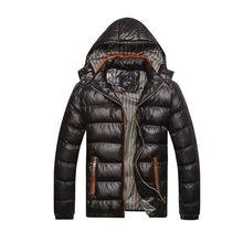 Nueva chaqueta con capucha de invierno para Hombre gruesa cálida Parkas delgadas para Hombre abrigo de algodón de alta calidad cálido para Hombre invierno S-4XL a prueba de viento(China)
