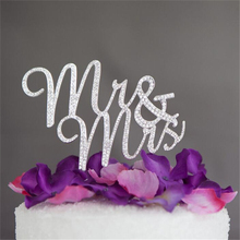 Buy Casamento Silver Mr&Mrs Wedding Cake Topper Topo De Bolo Wedding Cake Stand Decoration Centerpieces for $11.89 in AliExpress store