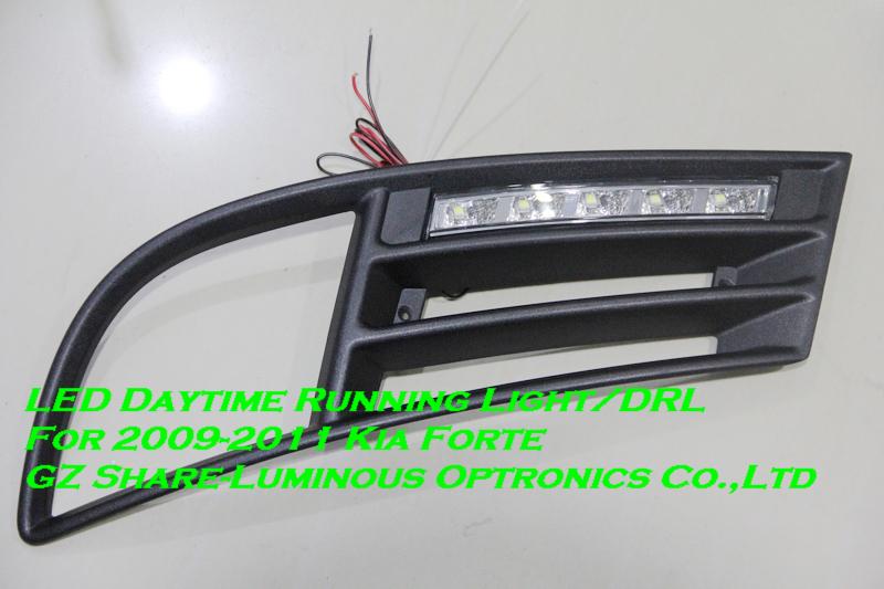 Professional! LED Daytime Running Light/LED DRL For KIA Forte/Cerato 2009-2011 Free Shipping(China (Mainland))