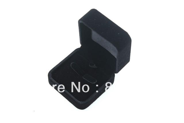 Custom Rounded black velvet pendant box ring box package box necklace bracelet earrings flocking jewelry box packaging
