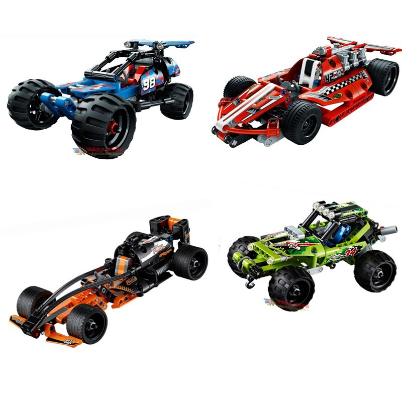 Decool 3411-3414 High Technic 2 in 1 warrior off-roader racer Car Model 3D building block sets Warrior sports car brick toys