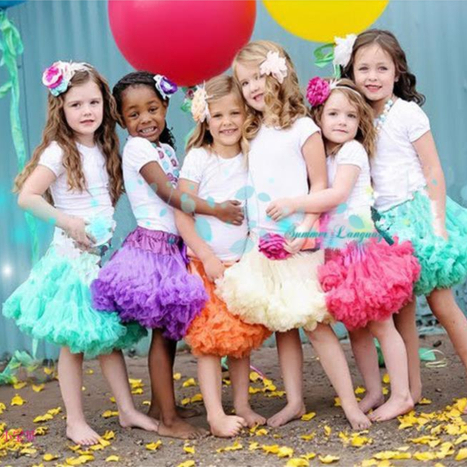 Free Shipping Baby Girls Chiffon Fluffy Pettiskirts Tutu Princess Party Skirts Ballet Dance Wear Kids Petticoat Clothes